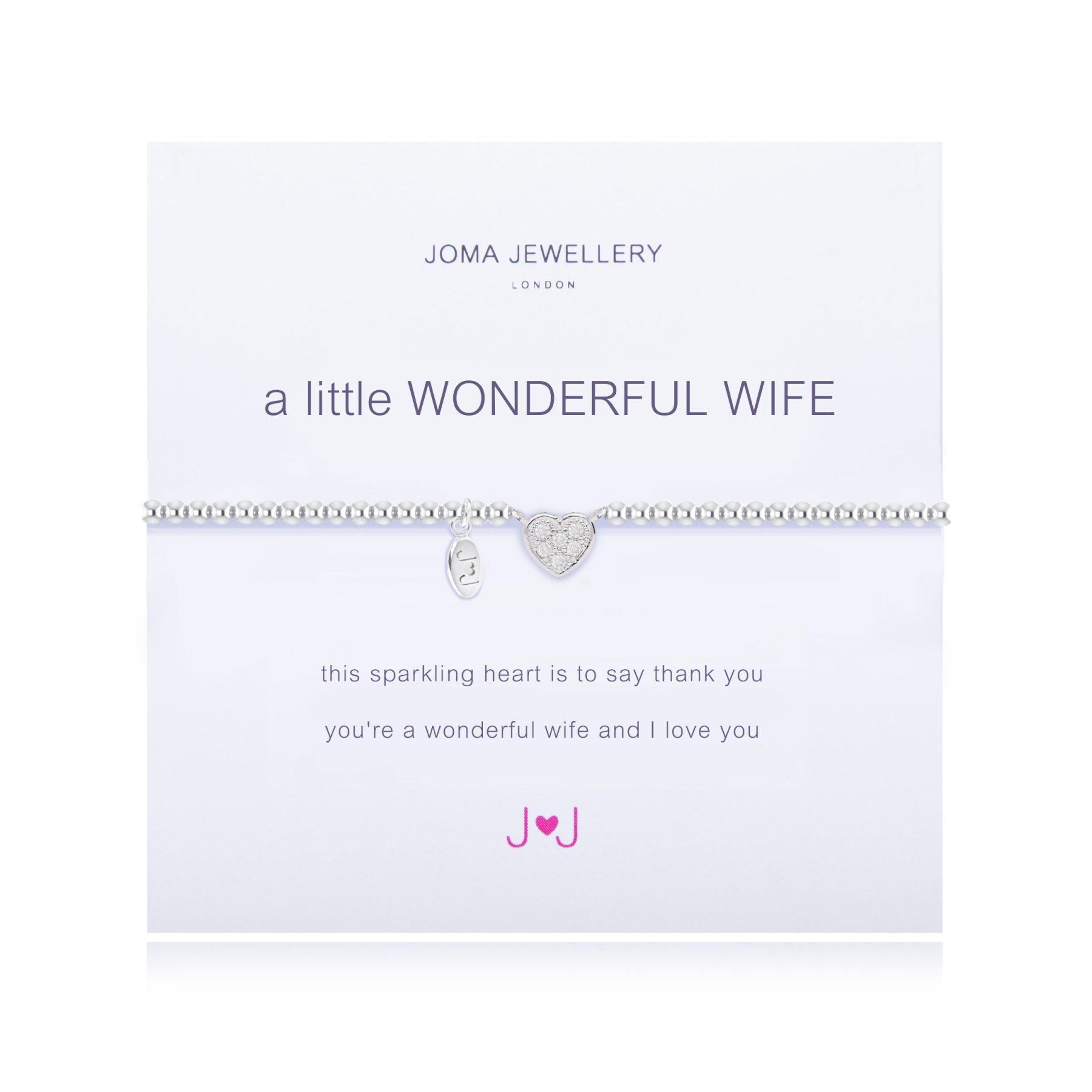 Joma Jewellery A Little Wonderful Wife Bracelet