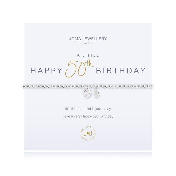 Joma Jewellery A Little Happy 50th Birthday Bracelet