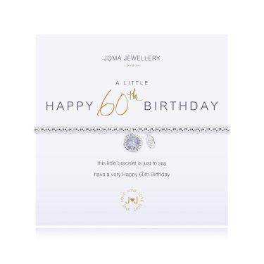 Joma Jewellery A Little Happy 60th Birthday Bracelet