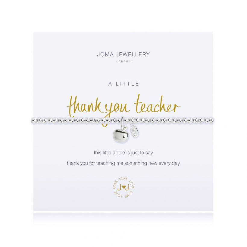 joma jewellery thank you teacher bracelet