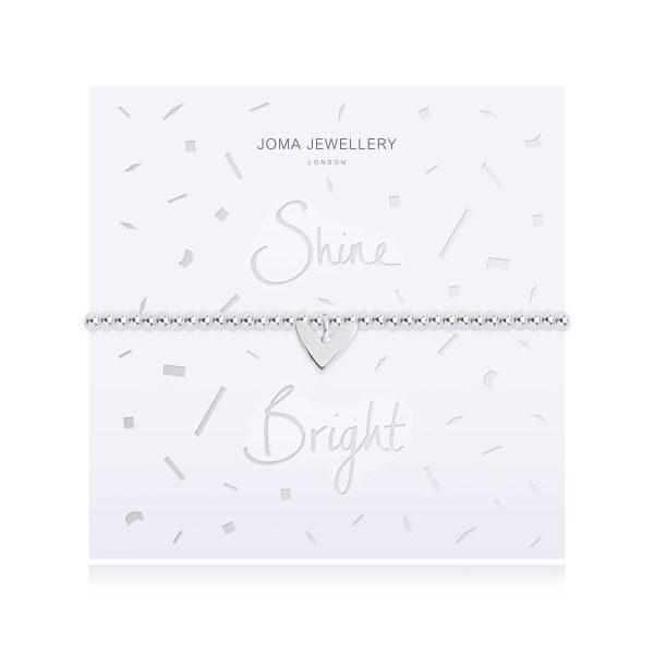 Joma Jewellery Live Love Sparkle Rose Gold Heart Bracelet