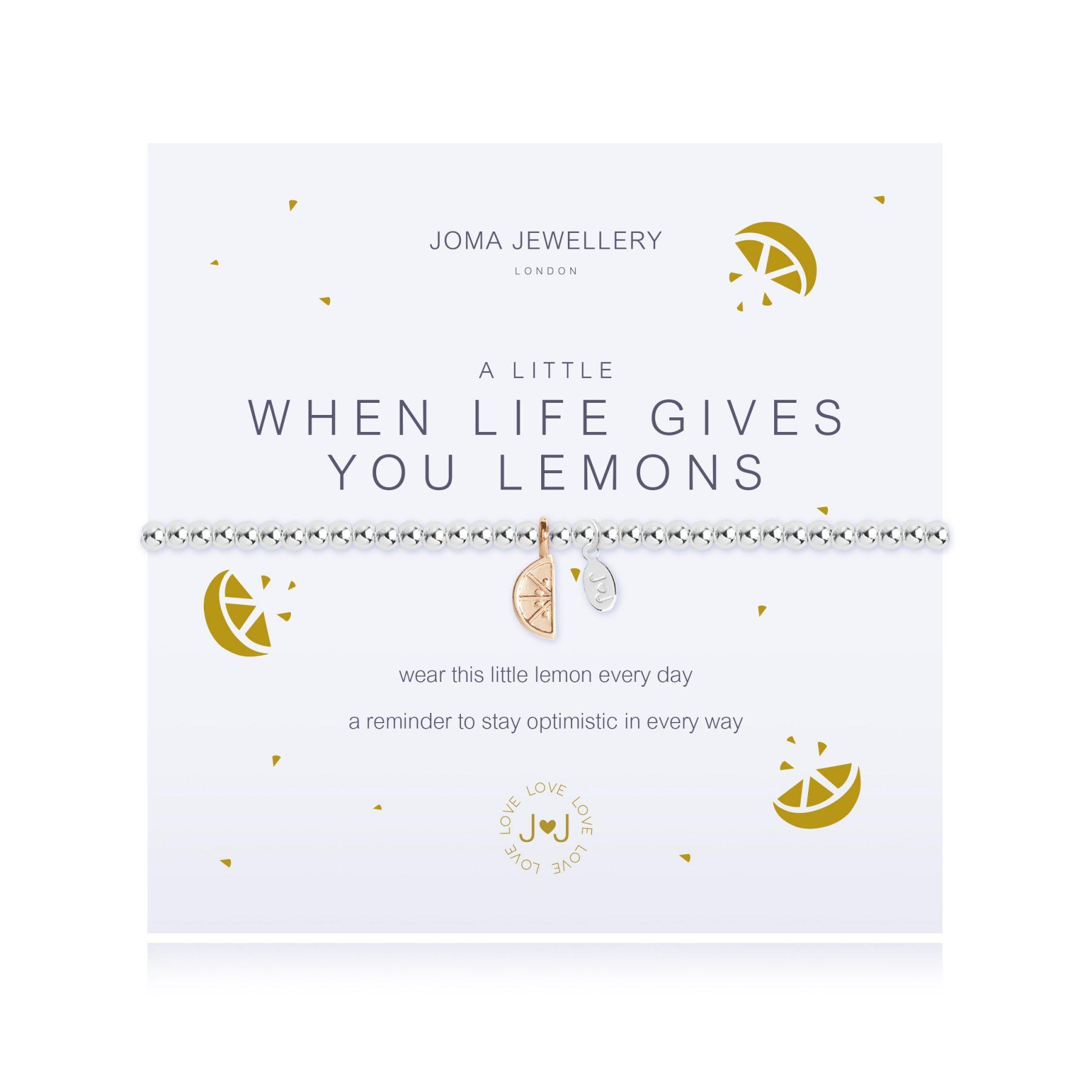 Joma Jewellery- A Little 'Life Gives you Lemons' Bracelet