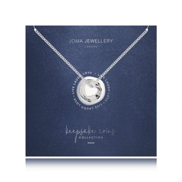 Joma Jewellery Keepsake Coin Heart Necklace