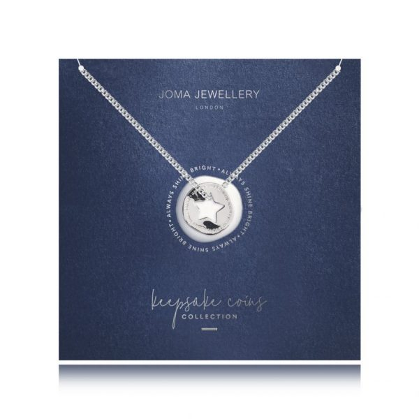 Joma Jewellery Keepsake Coin Star Necklace