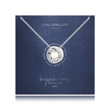 Joma Jewellery Keepsake Coin Necklace Good Karma