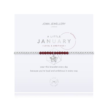 Joma Jewellery A LITTLE BIRTHSTONE JANUARY GARNET