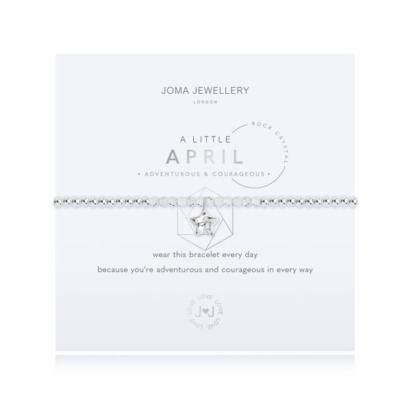 Joma Jewellery-A LITTLE BIRTHSTONE APRIL ROCK CRYSTAL