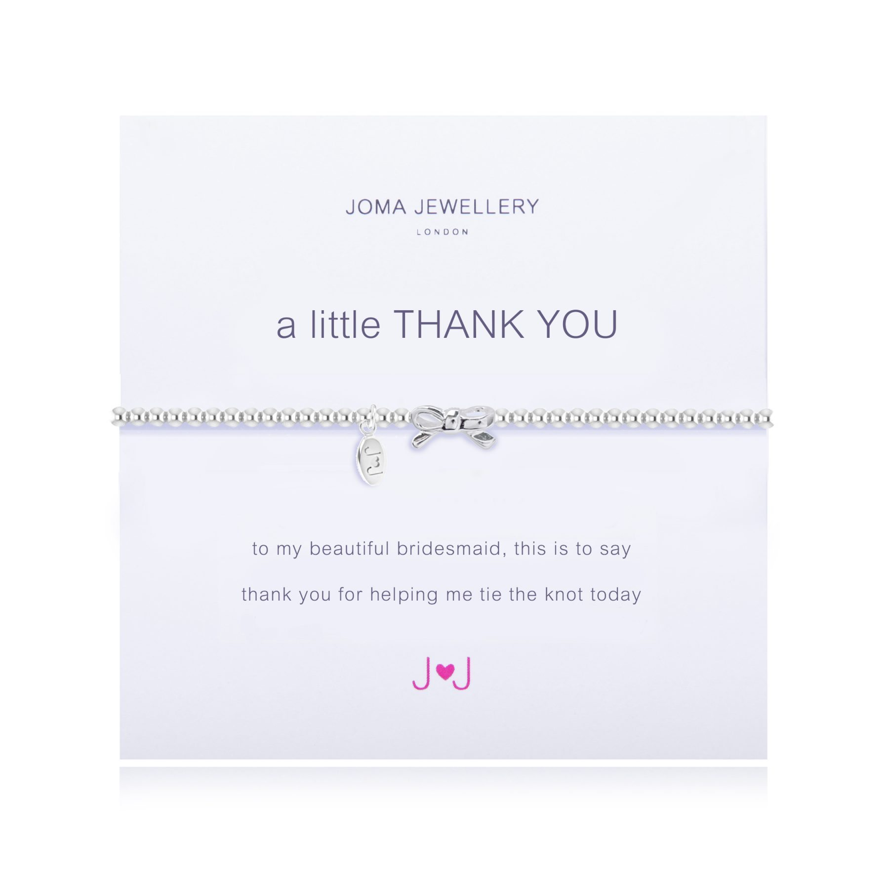 Joma Jewellery A Little Thank you Bridesmaid Bracelet