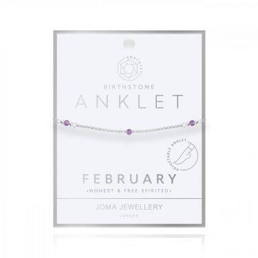 BIRTHSTONE ANKLET FEBRUARY AMETHYST