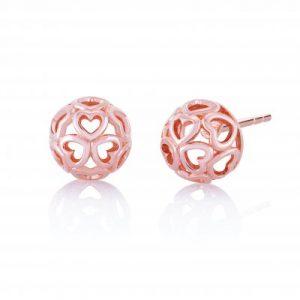 Delicate Heart Stud Earrings - Chamilia Blush