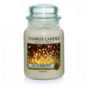 YANKEE CANDLE ORIGINAL LARGE JAR ALL IS BRIGHT