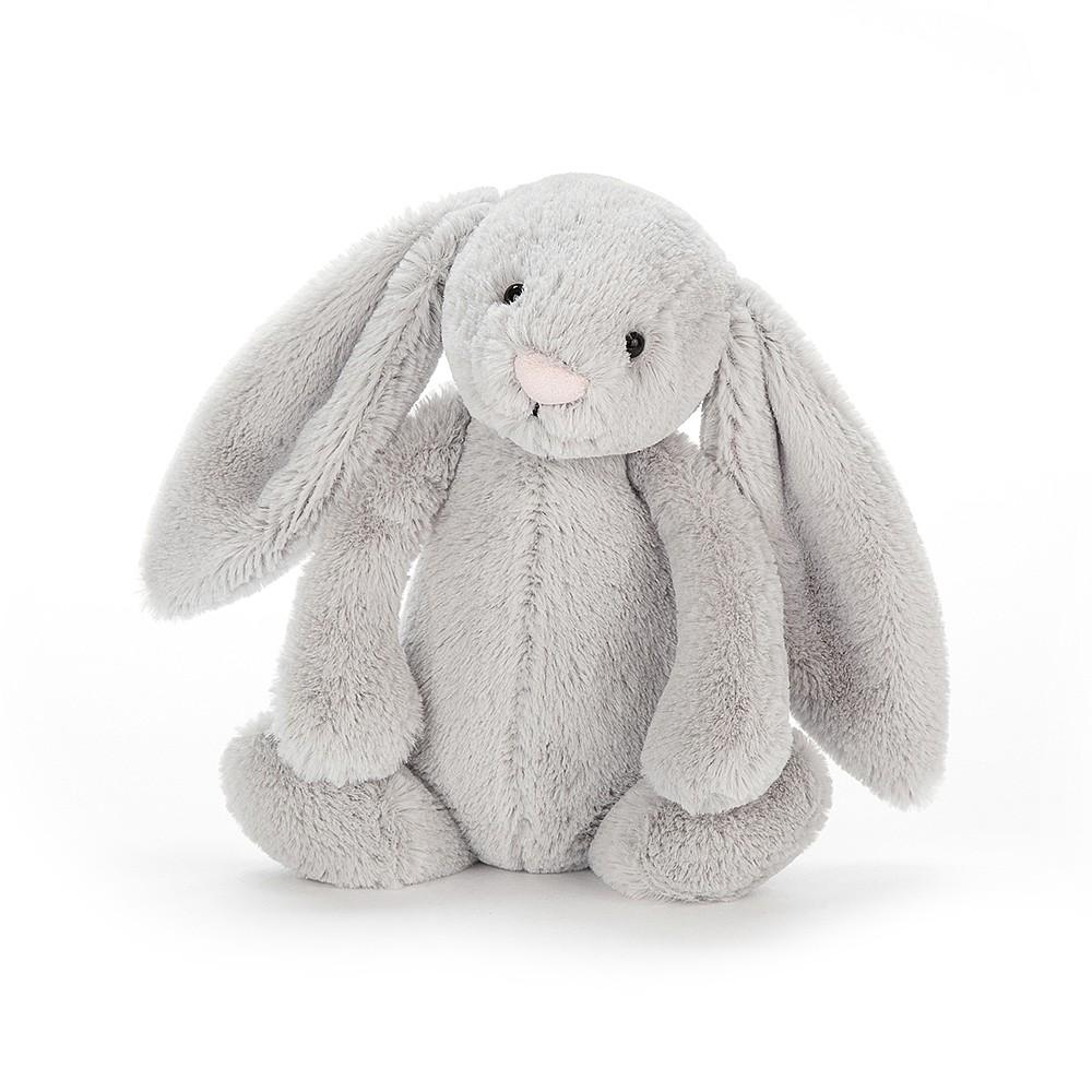 Jellycat-Bashful Silver Bunny Chime