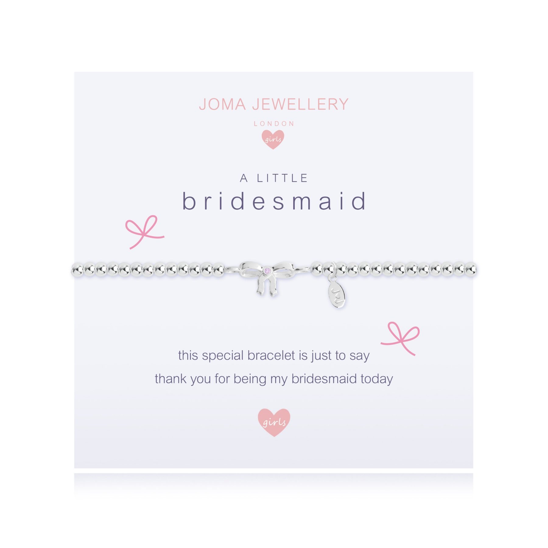 Joma Jewellery Girls A little Bridesmaid Silver Bracelet