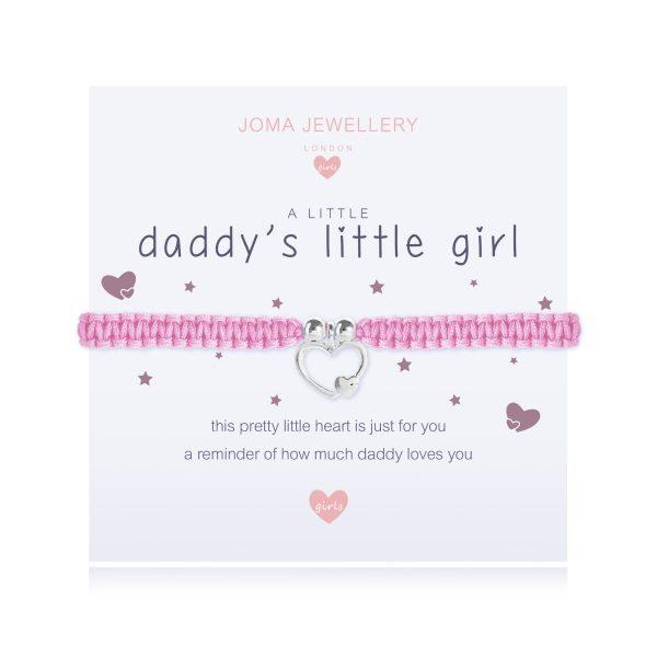 """Joma Jewellery A Little Girls """" Daddy Little Girl"""" Bracelet"""