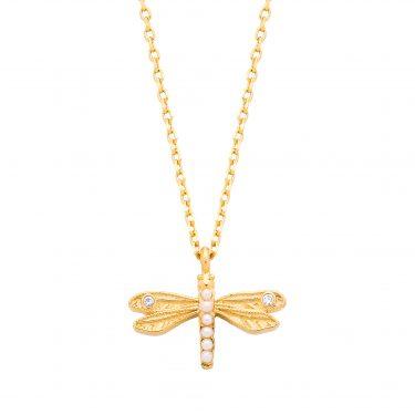 Estella Bartlett Dragonfly Necklace