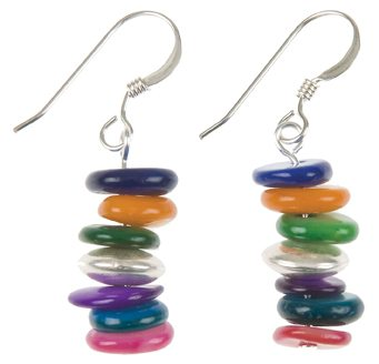Rainbow Shell Shimmer Earrings