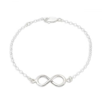Tales from The Earth Sterling Silver Infinity Bracelet