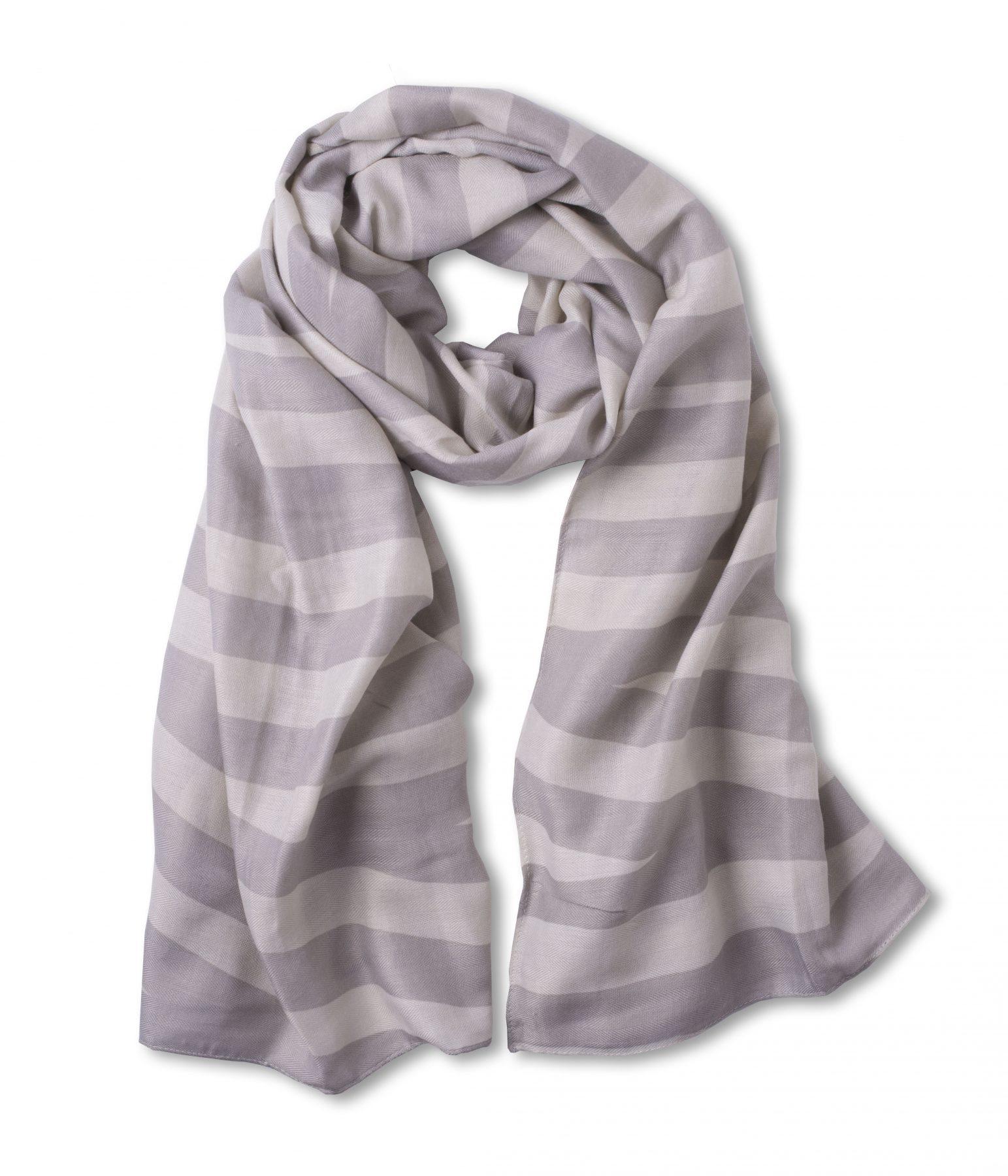 Katie Loxton Herringbone Scarf Grey/Pale Grey