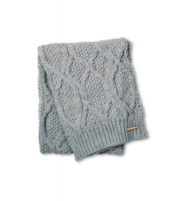 Katie Loxton Cable Knit Scarf - Grey