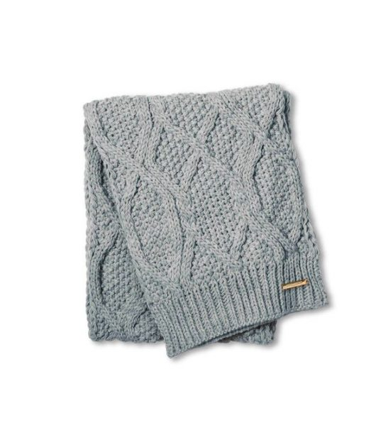 Katie Loxton Cable Knit Scarf – Grey