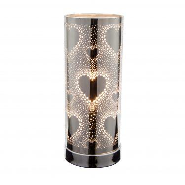 Sense Aroma White-Silver Hearts Touch Lamp