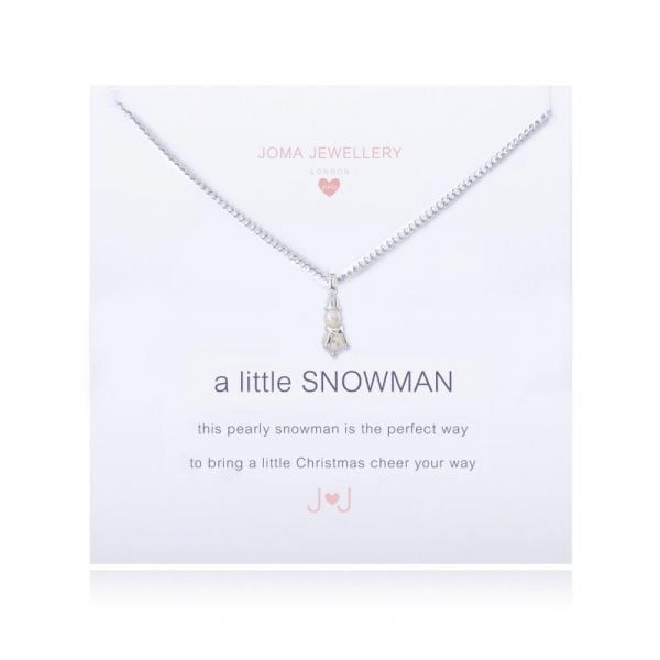 Joma Jewellery Children's A Little Snowman Necklace