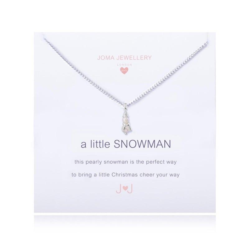 Joma Jewellery Children's A Little Snowman Necklace