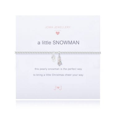 Joma Jewellery A little Girls Snowman Bracelet