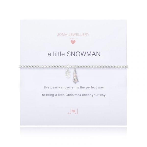 Joma Jewellery A little Girls Snowman Bracelet