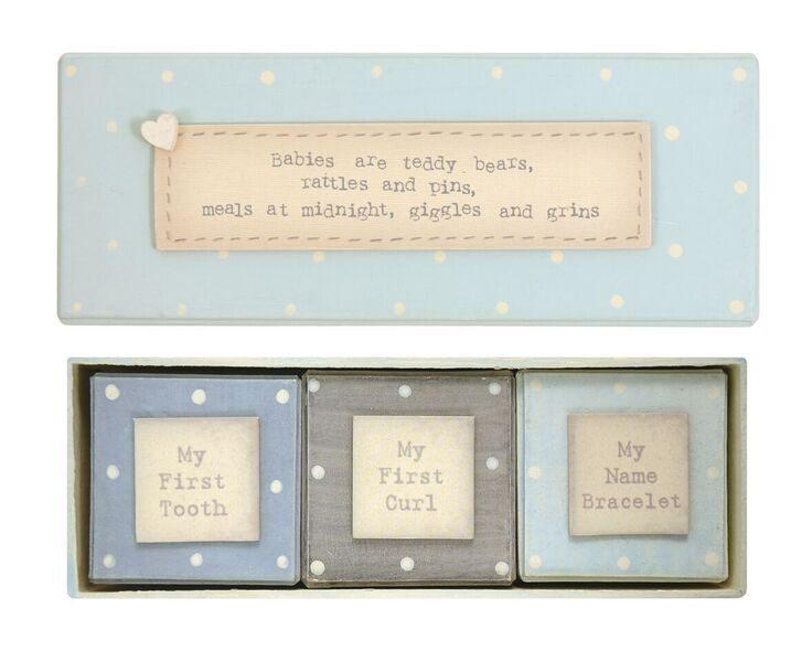East of India Baby Boy Triple Gift Box Set