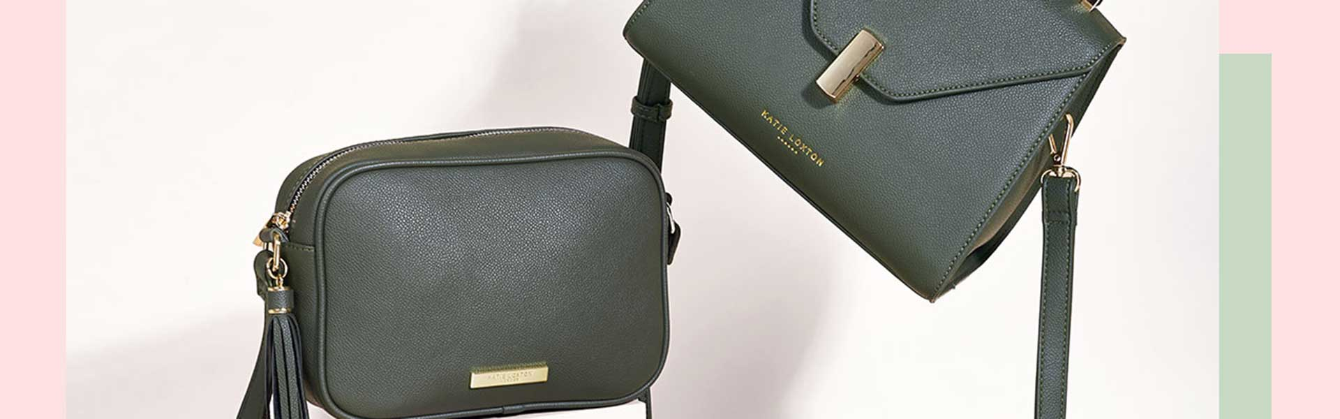Katie Loxton sustainable green handbags