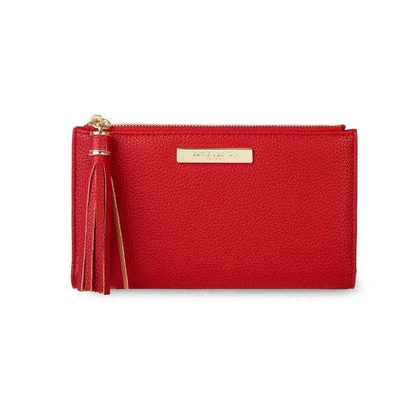 Katie Loxton Tassel Fold Out Purse - Red