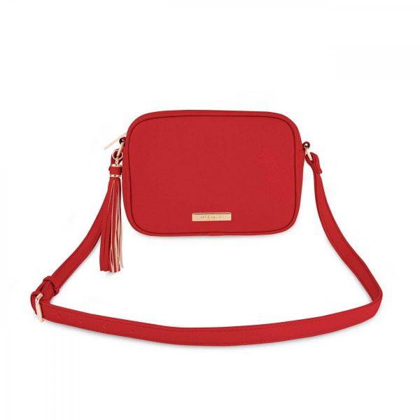 Katie Loxton Sophia Tassel Crossbody Bag -Red