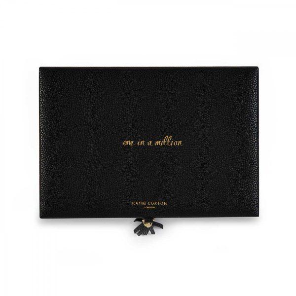 Katie Loxton TASSEL JEWELLERY BOX ONE IN A MILLION - BLACK
