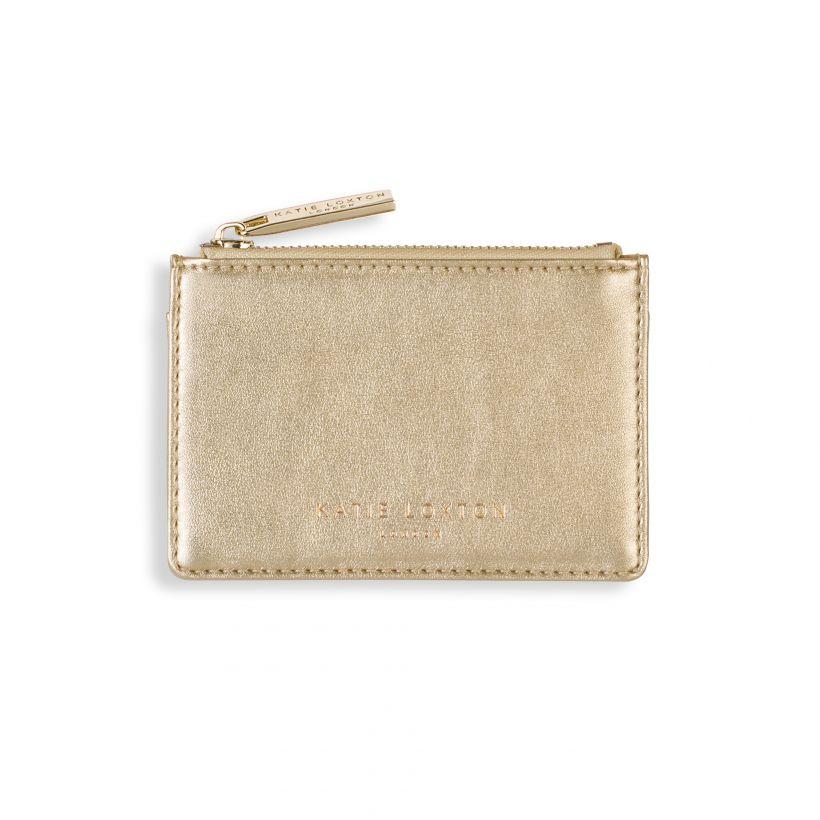 Katie Loxton ALEXA METALLIC GOLD CARD HOLDER