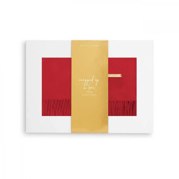 Katie Loxton Thick Plain Scarf - RED