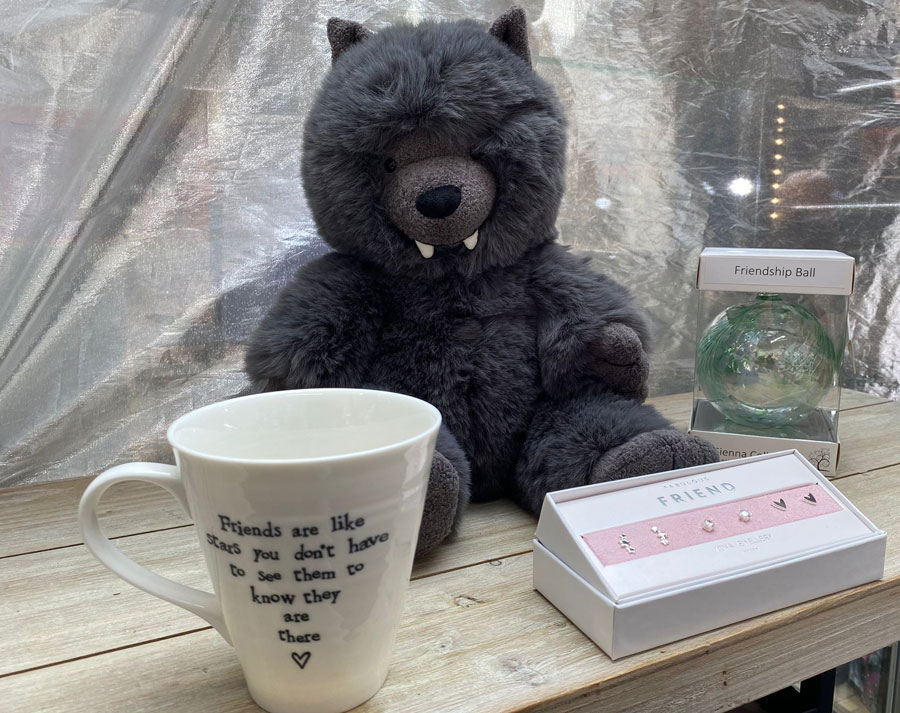 A range of friendship gifts available at Peccadillos, Stafford.