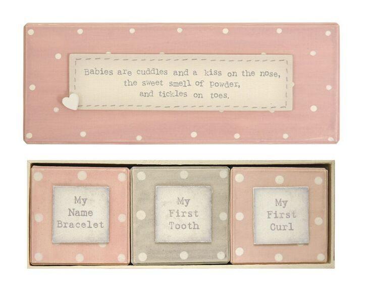 East of India Baby Girl Triple box Set